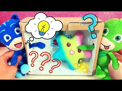 Indoviniamo tutti gli squishy nascosti nella scatola! 📦 [What's in my box challenge per bambini]