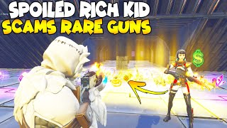 Spoiled Rich Kid Scams My Inventory!! 🤑😱 (Scammer Gets Scammed) Fortnite Save The World