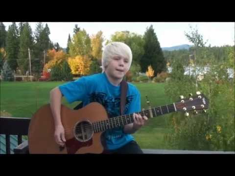Hold Me - Jamie Grace acoustic cover by 10 yr old Carson Lueders