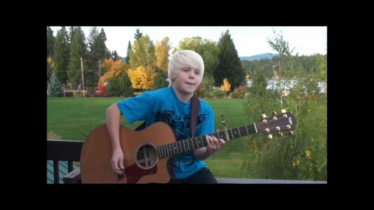 Hold Me — Jamie Grace acoustic cover by 10 yr old Carson Lueders