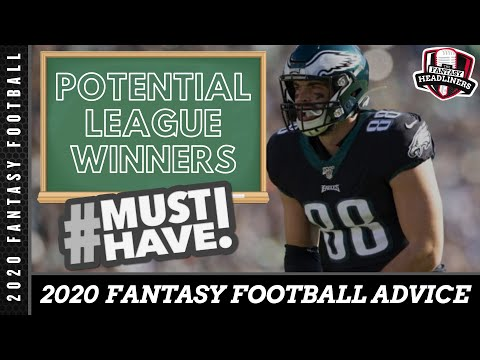 Fantasy Football Rankings - 2020 Must Have Late Round League Winners