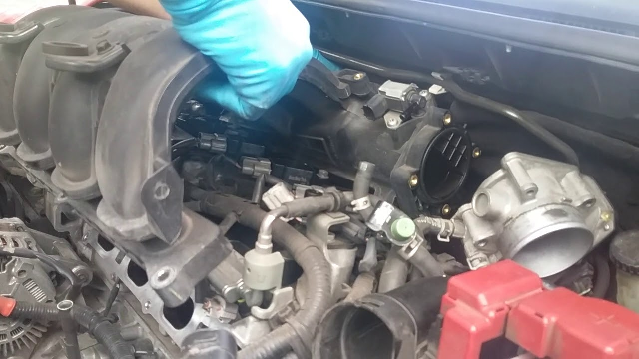 2008 Nissan Versa Coil Pack And Spark Plug Change Pt 4