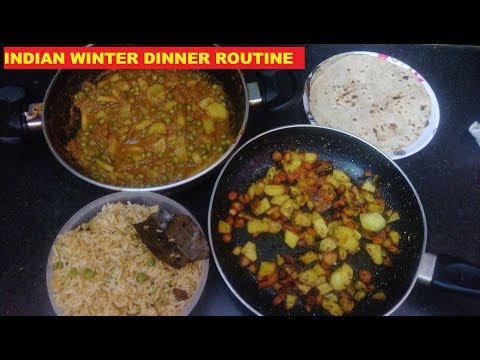 INDIAN WINTER DINNER ROUTINE WITH RECIPES||HOW I PREPARE DINNER