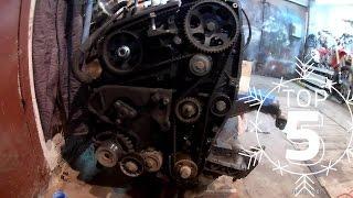 Фиат Добло - замена ремня ГРМ 1.9 JTD MultiJet. Fiat Doblo Replacement of timing belts. Метки ГРМ