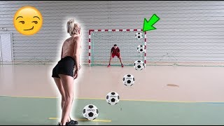 FOOTBALL CHALLENGE ! (Crossbar, Penalty, am dat de 4 ori in BARĂ *RECORD*)