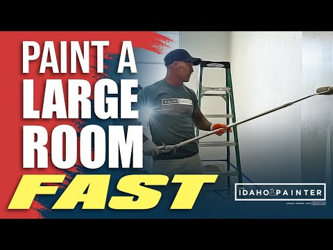 How To Paint Large Room Fast Diy Painting Large Room In Day Paint Room In Hour