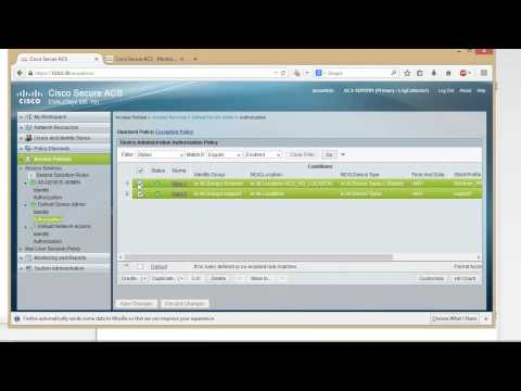 TACACS+ with Cisco ACS Server 5 5