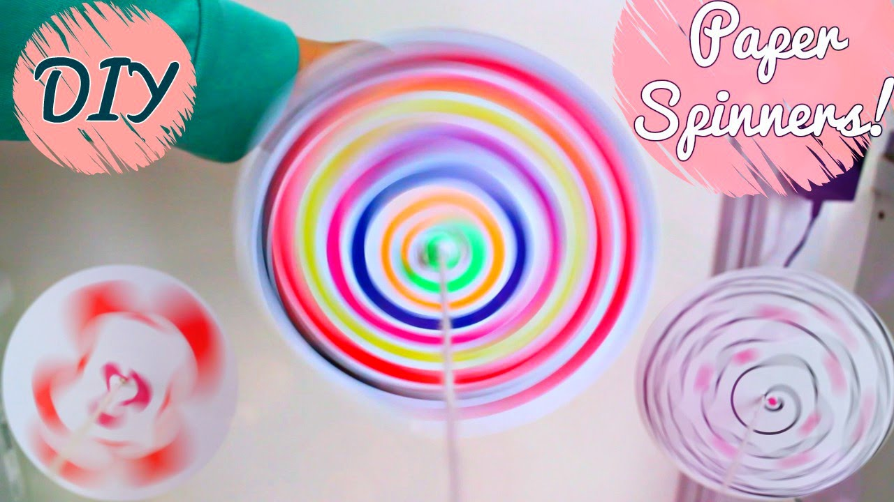 Diy Paper Spinners For Kids Youtube