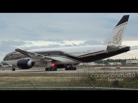 Equatorial Guinea Government Departure | P4-SKN | Boeing 777-200LR | Nassau, Bahamas