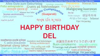 Del   Languages Idiomas - Happy Birthday
