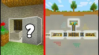 Minecraft Tutorial: How To Build a Hidden Base #4 With a Hidden Entrance