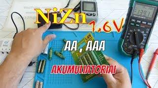 NiZn 1.6V AA ir AAA akumuliatoriai / NiZn 1.6 V Rechargeable Batteries / Обзор NiZn аккумуляторов