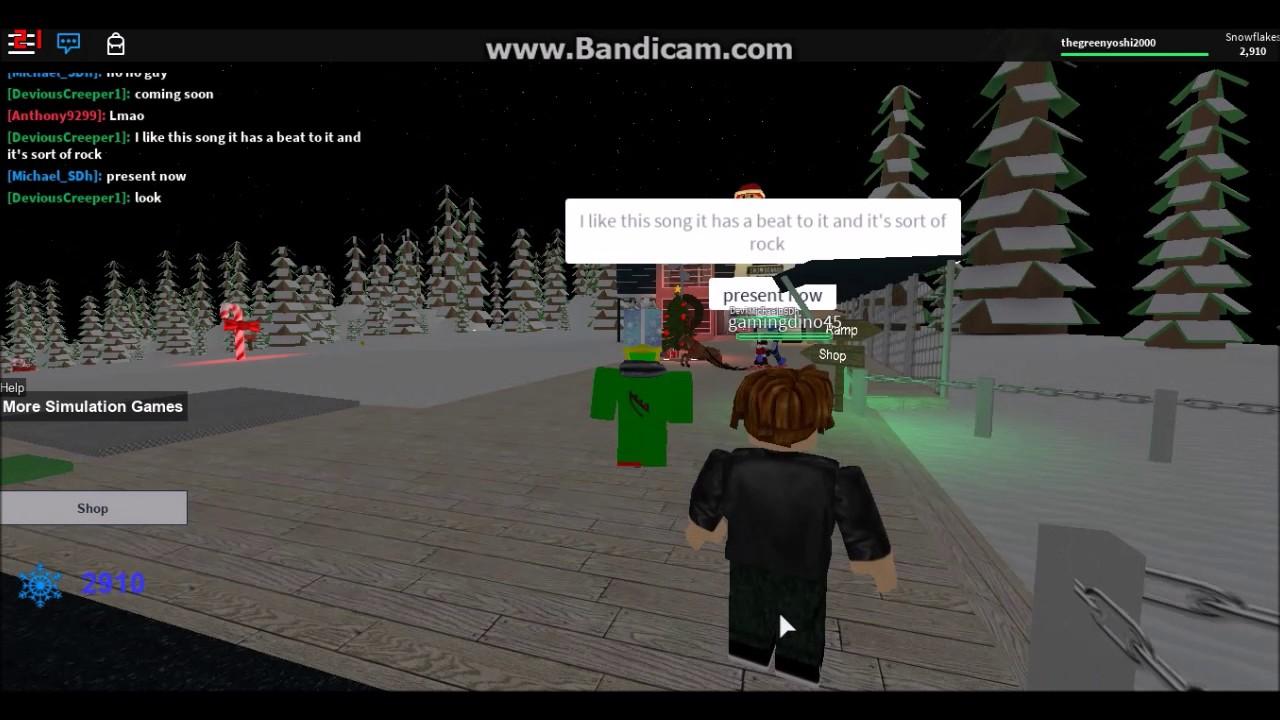 roblox ski resort christmas update - youtube