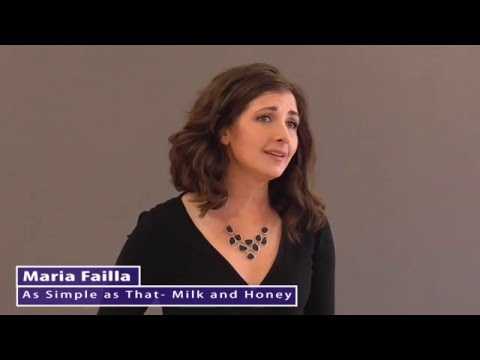 Maria Failla As Simple as That from Milk and Honey by Jerry Herman