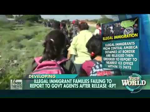 Illegal Immigrants Failing To Report To Agents After Release