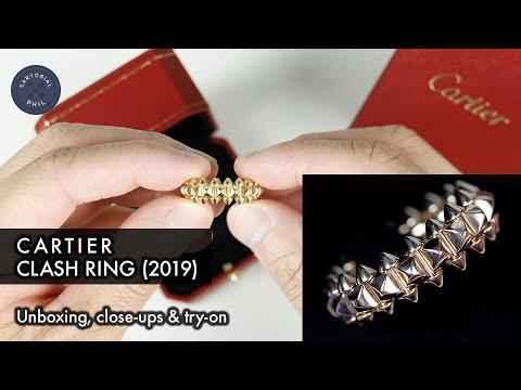 ee23ed2ebbde2 NEW 2019 Clash de Cartier Yellow-Rose Gold Ring: Details & Close-ups