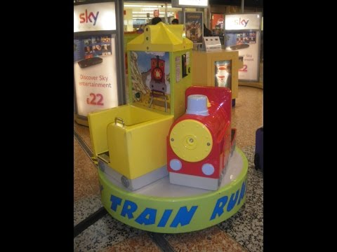 2010s Coin Operated Roundabout Kiddie Ride - Runaway Train Carousel