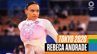Rebeca Andrade's 🇧🇷 mesmerizing Floor Routine at Tokyo 2020!