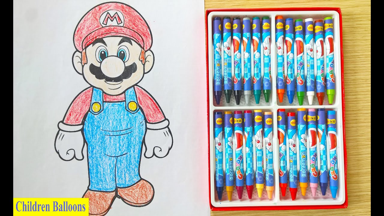 Coloring Picture Baby Mario Mario Fun Hero Youtube