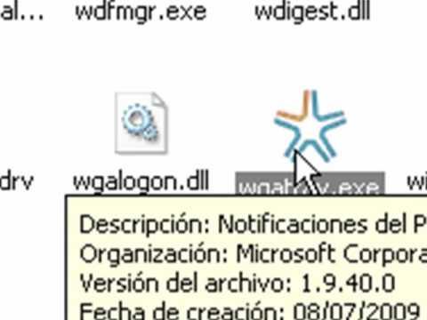 archivo wgalogon.dll