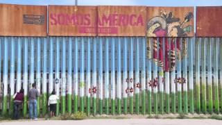 بالفيديو.. حدود أمريكا والمكسيك.. هنا يلتقي الأحباب دون اقتراب