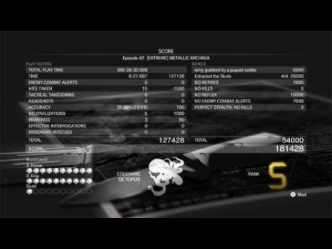 METAL GEAR SOLID V: THE DEFINITIVE EXPERIENCE - Extreme Metallic Archaea  - S Rating |