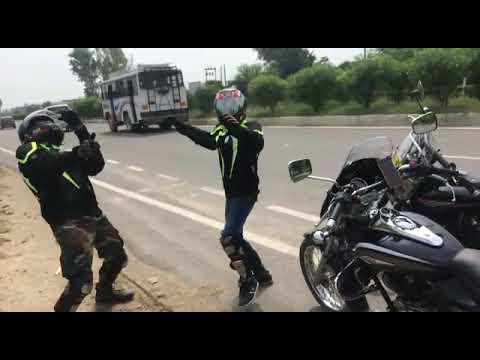 Jaipur Ride | Biker's Dance on Highway | 3 Peg Baliye | Feeling Awesome