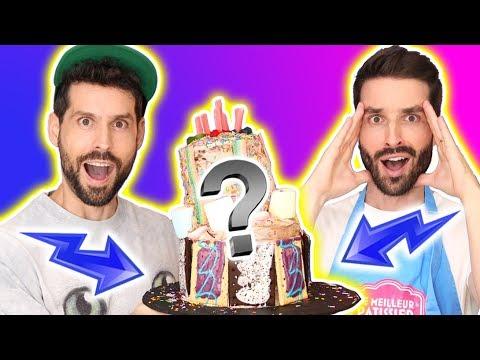GATEAU D'ANNIVERSAIRE XXL - JE MELANGE TOUT LES CAKE MIX ENSEMBLE - HUBY