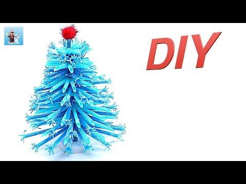 Drinking Straw DIY Christmas Tree Art and Craft Ideas Handicraft