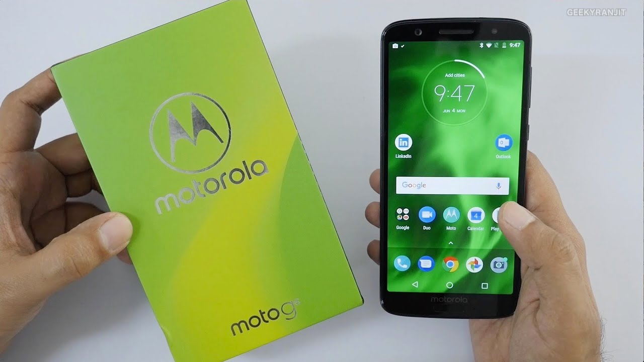 Moto G6 Unboxing & Overview (Indian Unit) - YouTube
