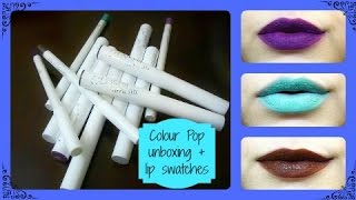 COLOUR POP! Unboxing Haul! + Try ON!! Worth the HYPE?