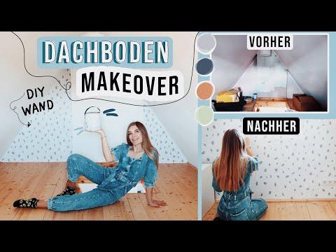 Dachboden Makeover DIY Wand streichen - Zimmer Renovierung Teil 5 // I'mJette