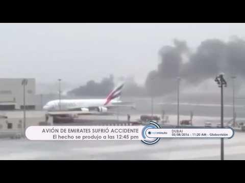 Avión de Emirates sufre un accidente al aterrizar en Dubai