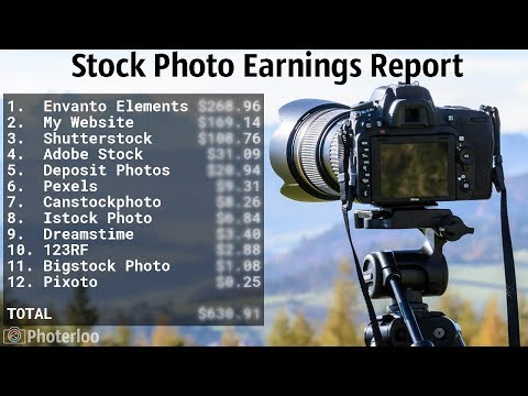 Stock Photography Earnings Report From May 2019