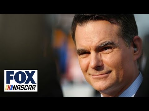 Jeff Gordon reacts to being voted into the NASCAR Hall of Fa