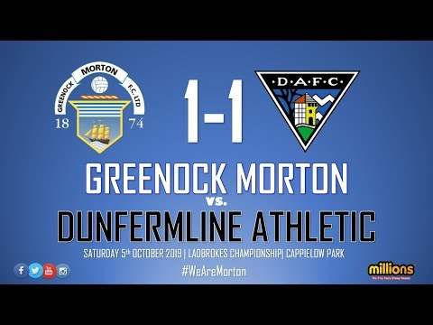 Match Highlights | Morton 1-1 Dunfermline Athletic (5th October 2019)