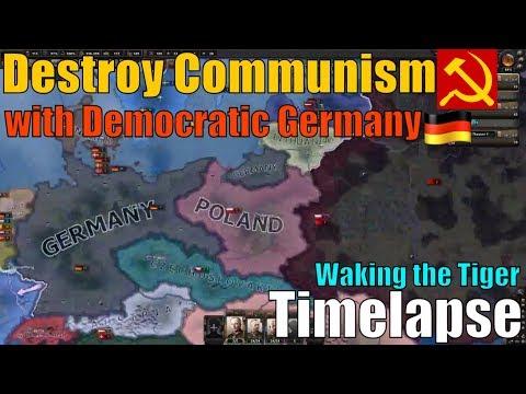 Timelapse democatic Germany - Weimar Republic | Waking the Tiger DLC: Hearts of Iron 4 [Hoi4/Hoi IV]