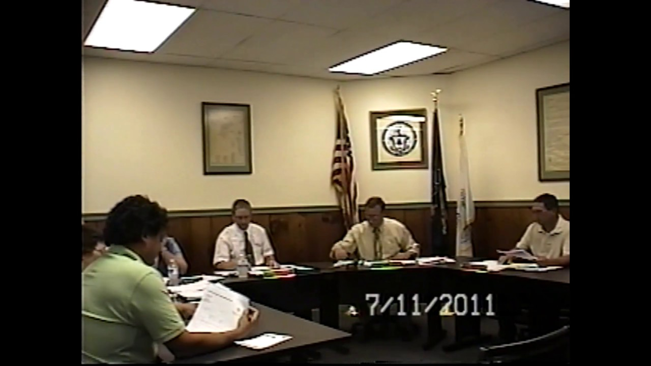 Champlain Village Board Meeting  7-11-11