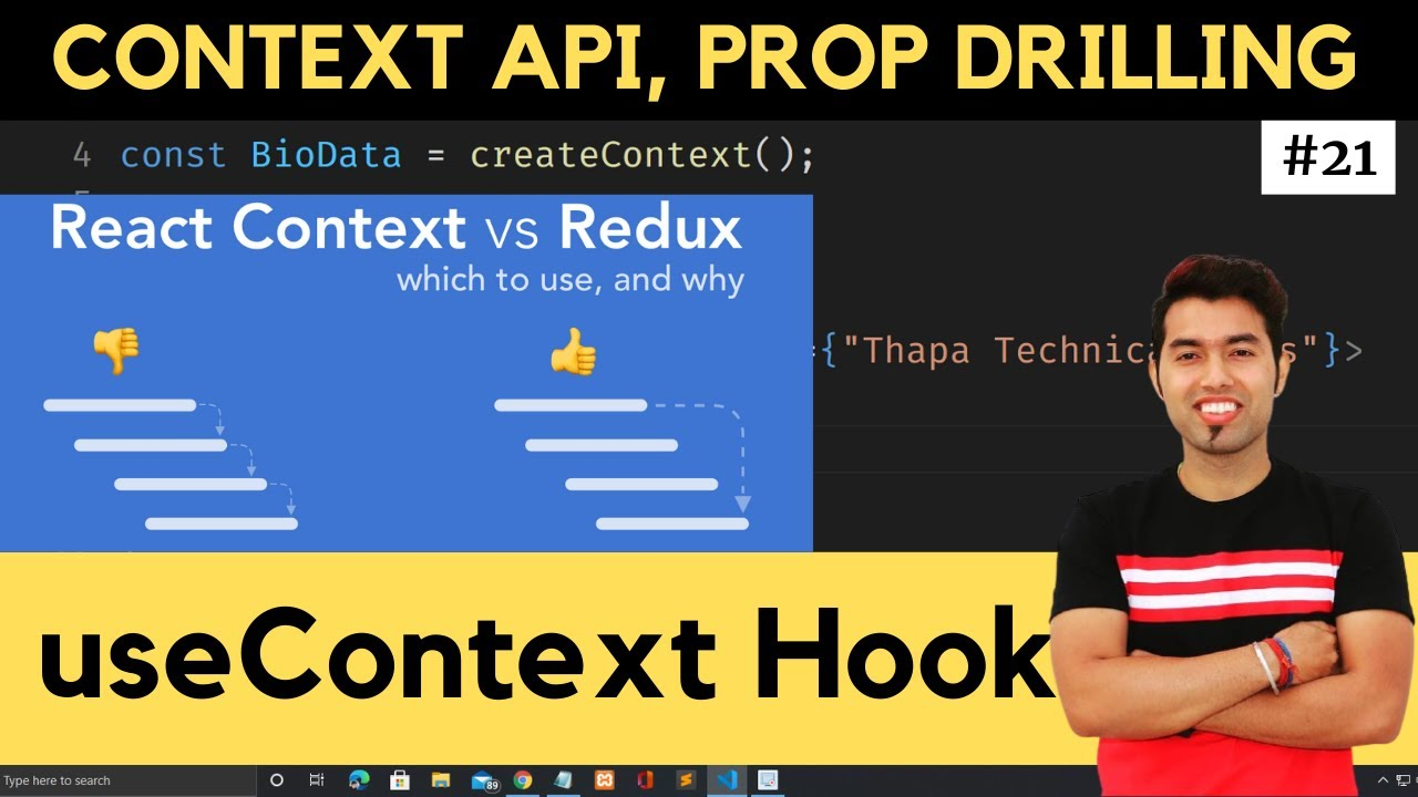 What is Prop Drilling, Context API & useContext Hook in React