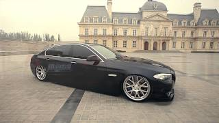 BMW 5 Series Bagged on 20