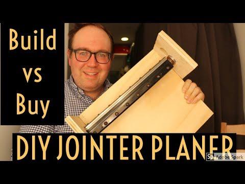 Build vs Buy DIY Jointer Planer Build with Dewalt 735 Cutterhead
