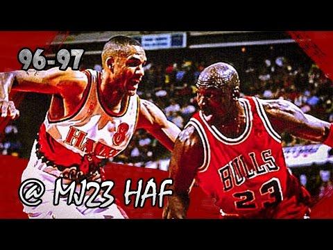 Michael Jordan vs Steve Smith Bulls vs Hawks (1997.02.14) - 51pts! Who