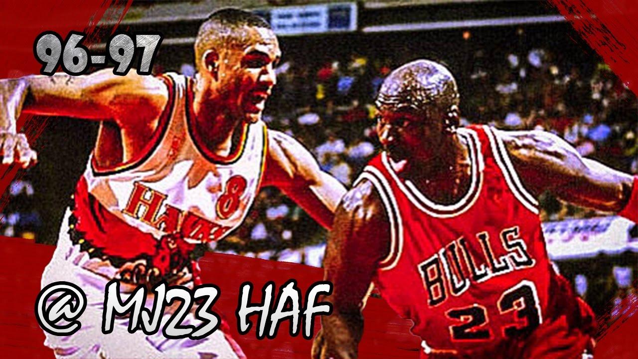 0747f871ea8c Michael Jordan vs Steve Smith Bulls vs Hawks (1997.02.14) - 51pts ...