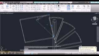 Constructing A Spiral Stair In Autocad - Part2