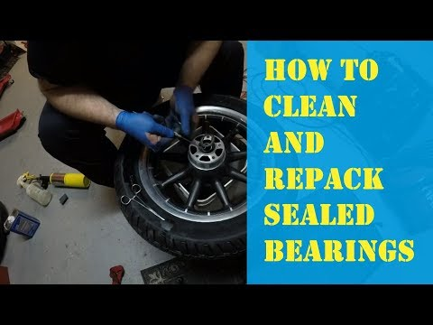 How to Clean and Repack Sealed Bearings