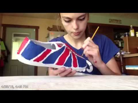 DIY British Flag Shoes