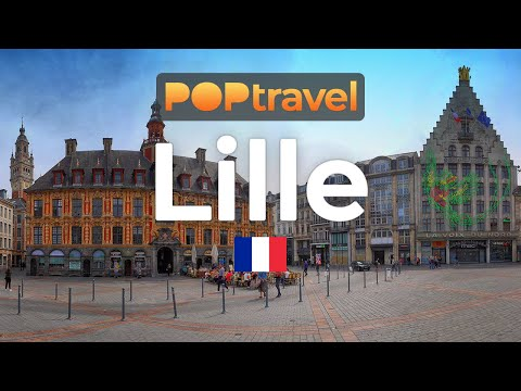 Walking in LILLE / France 🇫🇷- 4K 60fps (UHD)