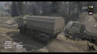 Spintires MudRunner anti-speedrun on the crossing with some guy named erik (Livestream archive)