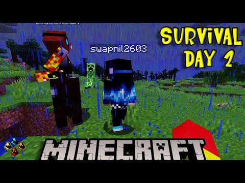 MINECRAFT |  SECOND DAY  | MULTIPLAYER WITH FRIENDS | LETS HAVE SOME FUN ...