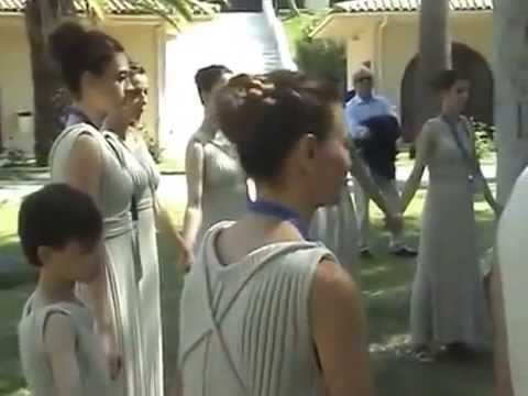 Artemis Ignatiou -Lighting Ceremony of Olympic Flame- Ancient Olympia 2/3